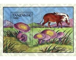 Ref. 365278 * MNH * - TANZANIA. 1993. MUSHROOMS . SETAS - Tanzania (1964-...)
