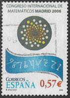 Spain SG4176 2006 International Mathematicians' Congress 57c Good/fine Used [20/18871/6D] - 1931-Today: 2nd Rep - ... Juan Carlos I