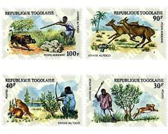 Ref. 90323 * MNH * - TOGO. 1975. HUNTING ANIMALS . ANIMALES DE CAZA - Togo (1960-...)