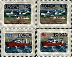 Ref. 60383 * MNH * - TONGA. 1982. TRANSPORT BETWEEN THE ISLANDS . TRANSPORTES ENTRE LAS ISLAS - Eisenbahnen