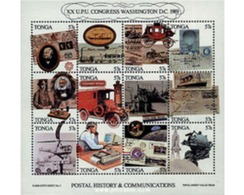 Ref. 59211 * MNH * - TONGA. 1989. 20th CONGRESS OF THE UPU . 20 CONGRESO DE LA UPU - Tonga (1970-...)