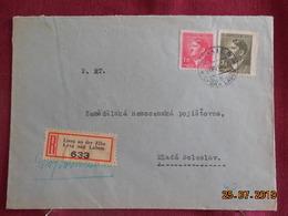 Lettre En Recommandé De 1943 à Destination De Mlada Boleslav - Bohême & Moravie