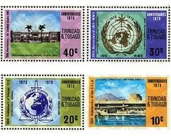 Ref. 42426 * MNH * - TRINIDAD AND TOBAGO. 1973. ANNIVERSARIES . ANIVERSARIOS - Géographie