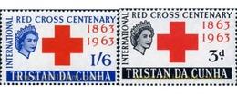 Ref. 366075 * MNH * - TRISTAN DA CUNHA. 1964. CENTENARY OF INTERNATIONAL RED CROSS . CENTENARIO DE LA CRUZ ROJA INTERNAC - Tristan Da Cunha