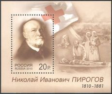 Russia 2010 200th Anniv Birth Nikolay Piorgov Medical Health Military Doctor Nurses People Celebrations S/S Stamp MNH - Militaria