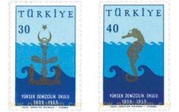 Ref. 143942 * MNH * - TURKEY. 1959. 50 ANIVERSARIO DE LA UNIVERSIDAD DE LA FLOTA MERCANTIL - 1921-... República
