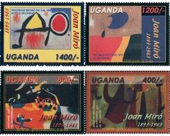 Ref. 126945 * MNH * - UGANDA. 2003. TRIBUTE TO JOAN MIRO . HOMENAJE A JOAN MIRO - Uganda (1962-...)