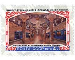 Ref. 57647 * MNH * - SOVIET UNION. 1979. TACHKENT'S UNDERGROUND . METRO DE TACHKENT - Treni