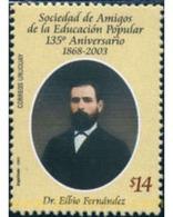 Ref. 136950 * MNH * - URUGUAY. 2003. 135 ANIVERSARIO DE LA SOCIEDAD DE LA EDUCACION POPULAR - Uruguay