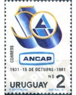 Ref. 297125 * MNH * - URUGUAY. 1981. 50 ANIVERSARIO DE LA CREACION DE LA ADMINISTRACION NACIONAL DE COMBUSTIBLES, ALCOHO - Environment & Climate Protection