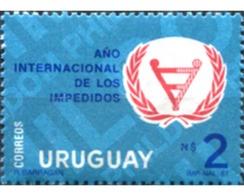 Ref. 297126 * MNH * - URUGUAY. 1981. INTERNATIONAL YEAR OF HANDICAPPED PERSONS . AÑO INTERNACIONAL DE LAS PERSONAS DISC - Uruguay