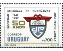 Ref. 297389 * MNH * - URUGUAY. 1992. CINCUENTENARIO  DE LA SOCIEDAD URUGUAYA DE ENSEÑANZA JOSE PEDRO VARELA - Uruguay