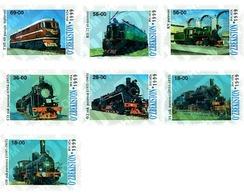 Ref. 80421 * MNH * - UZBEKISTAN. 1999. LOCOMOTIVES . LOCOMOTORAS - Eisenbahnen