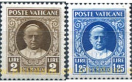 Ref. 600917 * HINGED * - VATICAN. 1929. ARMS OF POPE AND POPE PIO XI . ESCUDO PONTIFICIO Y PAPA PIO XI - Nuovi