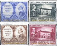 Ref. 115831 * MNH * - VATICAN. 1957. 5th CENTENARY OF CAPRANICA COLLEGE . 5 CENTENARIO DEL COLEGIO CAPRANICA - Nuovi