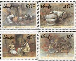 Ref. 231200 * MNH * - VENDA. 1988. L ART - AQUARELS BY KENNETH THABO . ARTE LOCAL - ACUARELAS DE KENNETH THABO - Venda