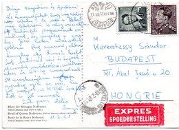 N° 848A + 924 Sur CV Par Exprès D'Ixelles Vers Budapest (Hongrie) - Tarif Exact - 1936-1951 Poortman