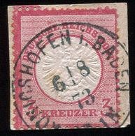 """""""KÖNIGSHOFFEN I.NADEN"""" K 1 Zentrisch Briefstück Nr. 25 - Deutschland"""