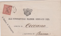 Italia 1875 Lettera Da Carmagnola A Ceccano Con 2 C  Rosso - Marcophilie