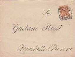 Italia 1894 Lettera Da Milano Per Rocchette Piovene Con 20c Re Umberto - 1878-00 Umberto I