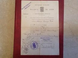 Mairie De Vaux En Bugey  Sauf Conduit Lyon 1914 - Cachets Généralité