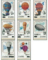 Ref. 61426 * MNH * - ZAIRE. 1994. 200th ANNIVERSARY OF FIRST MANNED BALLOON ASCENSION. NEW CURRENCY . 200 ANIVERSARIO DE - Zaïre