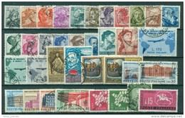 ITALIA REPUBBLICA - ANNATE COMPLETE 1961 1962 1963 1964 1965 1966 1967 1968 1969 1970  USATE  PERFETTE LUX - 6. 1946-.. Repubblica