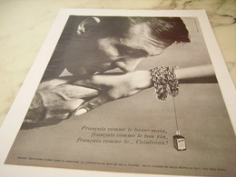 ANCIENNE PUBLICITE LIQUEUR COINTREAU LE BAISSE MAIN 1965 - Alcolici