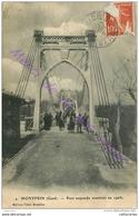 30. MONTFRIN . Pont Suspendu Construit En 1906 . CPA Animée . - Altri Comuni
