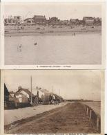 2 Cartes Postale Ancienne De Fromentine Le Nouveau Boulevard En Bordure De Plage Et La Plage - Autres Communes