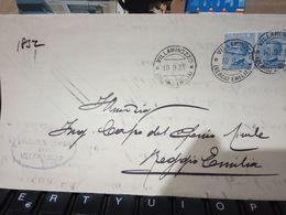 VILLAMINOZZO REGGIO E  PIEGO COMUNE X GENIO CIVILE  FIRMA SINDACO  COPPIA  25 C Azzurro MICHETTI 1923  HD10401 - 1900-44 Vittorio Emanuele III