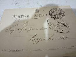 TELEGRAMMA-ESPRESSO DI STATO In Franchigia MINISTERO E  FIRMA PODESTA  PREFETTO MANTOVA 1919  HD10403 - Exprespost