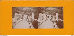 PHOTO STEREO DEBUT 20 EME LE PONT DE PRESLE SUR LA LOIRE AU DELA DE ST MAURICE SUR LOIRE PRES DE ROANNE - Photos Stéréoscopiques