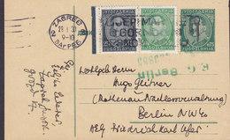 Yugoslavia Uprated Postal Stationery Ganzsache Entier Slogan ZAGREB 1933 BERLIN (Arr. E.G. BERLIN Zug?) Germany (2 Scans - Postal Stationery