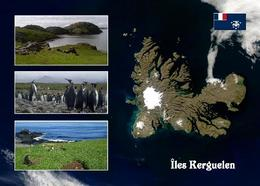 Kerguelen Islands Satellite View TAAF New Postcard - TAAF : Territori Francesi Meridionali