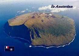Amsterdam Island Aerial View TAAF New Postcard - TAAF : Territorios Australes Franceses