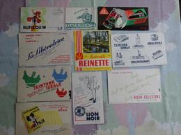 BUVARD BUVARDS  BLOTTING PAPER  LOT DE 10 ALIMENTATION BOISSON GÂTEAU ABONNEMENT PHARMACIE ECRITURE - Colecciones & Series