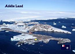 Antarctica Adelie Base Aerial View TAAF New Postcard - TAAF : Franz. Süd- Und Antarktisgebiete