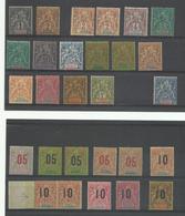 1892- 1912 Sénégal, Lot Type Groupe Neufs* Cote YT 320€ - Sénégal (1887-1944)