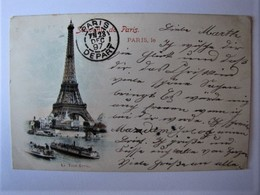 FRANCE - PARIS - La Tour Eiffel - 1897 - Eiffeltoren