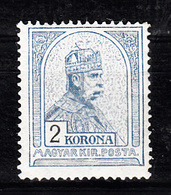 Hongarije 1900 Mi Nr  68 A Koning Franz Josef, Met Plakker - Ongebruikt