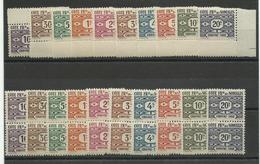 C.F. Somalis, 1947 Taxe 44/ 53 Neufs ** Cote 12€ X3 Soit 36€ - Französich-Somaliküste (1894-1967)
