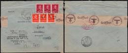 Romania - WWII, Censored Reg. Cover (Mi. 654, 658), 'MARGINA-RESITA'. Resita 8.10.1943 To Jablunkau, Germany. - 2. Weltkrieg (Briefe)