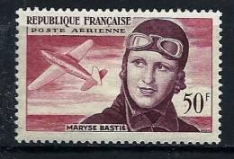 """FR Aerien YT 34 (PA) """" Maryse Bastié """" 1955 Neuf* - 1927-1959 Mint/hinged"""