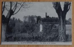36 : Sainte-Sévère-sur-Indre - La Statue Et Le Château - (n°15528) - Francia