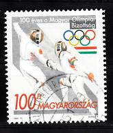 Hongarije 1995 Mi Nr  4351 , 100 Jaar NOC, Schermen, Fencing - Hongarije