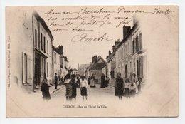 - CPA CHÉROY (89) - Rue De L'Hôtel De Ville 1904 (belle Animation) - Edition Librairie Regnier-Chatelet - - Cheroy