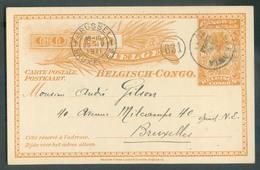 E.P. Carte 10 Centimes MOLS (daté De MIKOLA 30-3-11) Obl. Sc SAKANIA 3 Avril 1911 Vers Bruxelles -. 14481 - Stamped Stationery