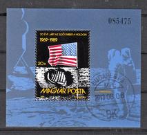 Hongarije 1989 Mi Nr Blok 204 , Maanlanding, Space - Hongarije