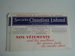 Lot De 3 Villefranche Claudius Lafond Vetement Buvard Buvards - Textilos & Vestidos